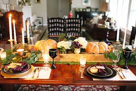 thanksgiving table how to set the table