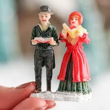 miniature carolers figurine table decor