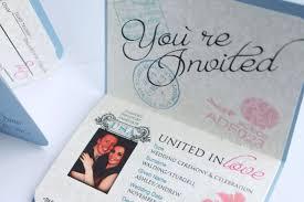 wedding cards usa passport wedding invitations template free