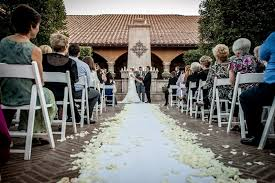 Outdoor Cer Rug A Beautiful White Carpet The Aisle With Ivory Flower Petals