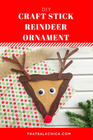 clothespin reindeer ornament that bald