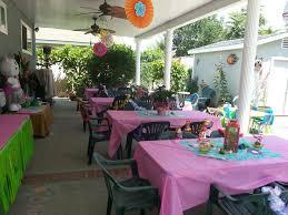 Backyard Set Backyard Party Set Up Hawaiian Hello Kitty Party Pinterest