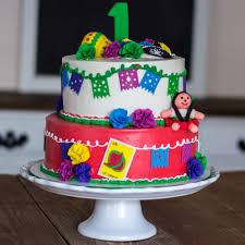 1st birthday fiesta cake chocolate cake with strawberries