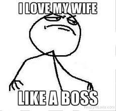 I Love My Wife Meme - i love my wife like a boss