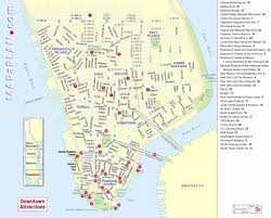 tourist map of new york downtown new york map major tourist attractions maps