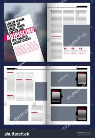 modern magazine layout template photo stock vector 596628644