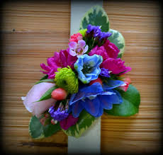 multi colored wrist corsage bloomwoods flowers