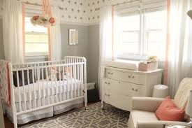 Peach Color Bedroom by 12th And White Peach And Gray Nursery Reveal
