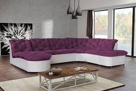 canape angle cuir but canapé clac d angle panoramique prune pu blanc sofa divan achat