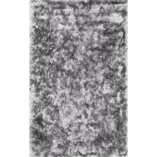 Area Rugs Shag Nuloom Latonia Silken Shag Silver 7 Ft 6 In X 9 Ft 6 In Area