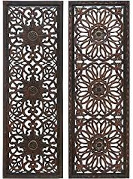 wood carved panel decorative thai wall relief panel