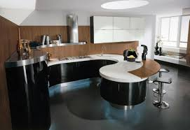 kitchen islands with soft lines make the kitchen of more