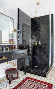 Subway Tile Designs For Bathrooms by Best 10 Black Tile Bathrooms Ideas On Pinterest White Tile