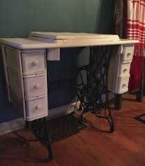 Diy Sewing Desk Diy Singer Sewing Table Turned Farmhouse End Table Hometalk