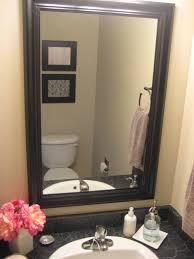White Framed Mirror Round Mirror Black Frame Vanity Decoration