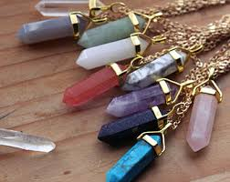 crystal necklace etsy images Mineral jewelry etsy jpg