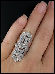 antique jewelry rings images Glorious long art deco dinner ring antique art 1920s and filigree jpg