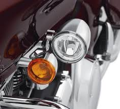 harley davidson lights accessories road glide led fog l mount kit chrome auxiliary lighting