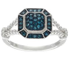 color diamond rings images Pave 39 color diamond ring sterling 1 4 cttw by affinity page 1 001