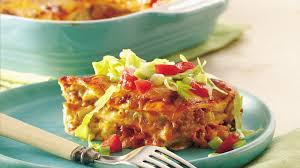 Cooking Light Enchilada Casserole Layered Chile Chicken Enchilada Casserole Recipe Bettycrocker Com