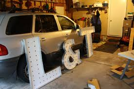 building large lighted marquee letters 13 steps with pictures