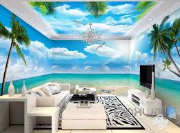 wallpaper for entire wall 3d beach view starfish palm tree entire room wallpaper wall murals