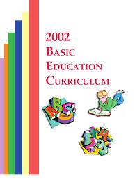 2002 basic education curriculum curriculum literacy