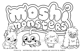 moshi monsters coloring pages to print coloring page