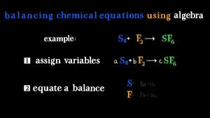 balancing chemical equations using algebra high level