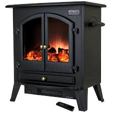 Black Electric Fireplace Golden Vantage 25 1500w Freestanding Portable