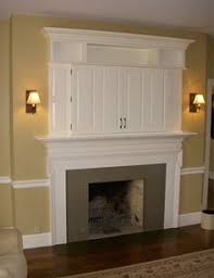 Decorations Tv Over Fireplace Ideas by Where To Put Cable Box With Tv Over Fireplace For Stereo