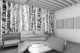 custom designed self adhesive wallpaper wall murals birch trees