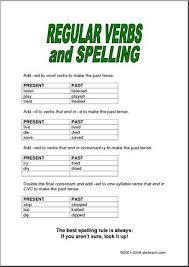 spelling past tense regular verbs elem rules i abcteach com