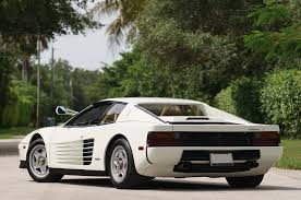 koenigsegg miami 1986 ferrari testarossa from miami vice heads to the auction block