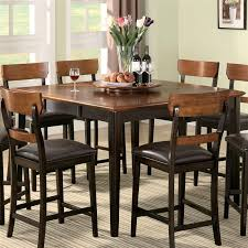 counter height dining room table sets franklin 7 pc counter height dining set in oak and brown finish by