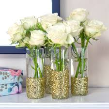 Tall Glass Vase Centerpiece Ideas Diy Glitter Shot Glass Vases Popsugar Smart Living
