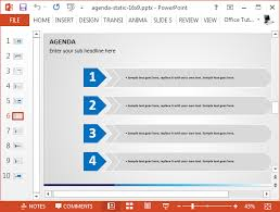 powerpoint agenda template or summary layout in powerpoint