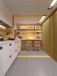 Yellow Kitchen Cabinet by Kitchen Gradient Yellow Kitchen Accent Wall With White Kitchen