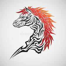 horse tribal tattoo stock vector image of elegance design 45595200