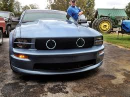 2007 mustang grill fog lights grille mustang evolution