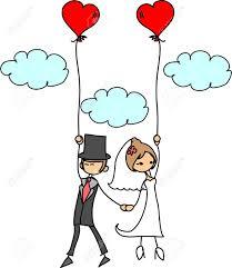 photo de mariage de dessin animé clip libres de droits - Dessin Mariage