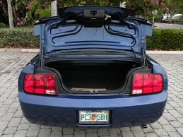 mustang trunk space 2008 ford mustang v6 convertible for sale in fort myers fl