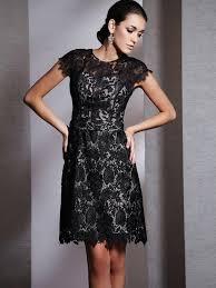 bateau lace short sleeves black mini 2013 prom dress on sale on