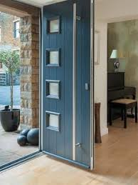Exterior Doors Fitted Contemporary Grey Door And Frame Side Panels Entrance Doors