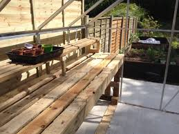 greenhouse staging made out of pallets greenhouse stuff