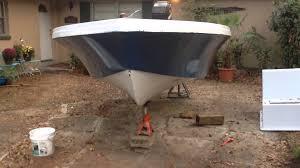 cheap boat paint job youtube