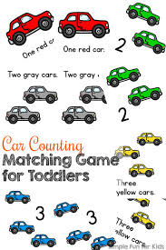 car counting matching game for toddlers simple fun for kids