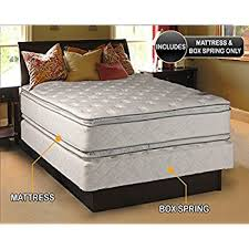 amazon com princess dream plush pillow top king size mattress and