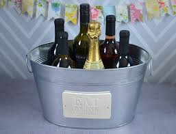 House Warming Wedding Gift Idea Unique Gift Idea Large Champagne Tub Eat Drink And Celebrate We