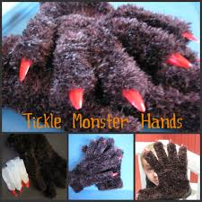 Halloween Monster Hands Three Jewels In My Crown Today U0027s Craft Tickle Monster Mitts